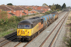 56302 Class 56 diesel locomotive (Roger Wasley) Tags: 56302 56096 class56 colasrail freight rhtt ashchurch gloucester hortonroad cheltenham lansdown loop trains railways uk networkrail gloucestershire northway level crossing