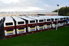628, 629, 633, 641, 660, 659, 649 & 691 (Callum's Buses and Stuff) Tags: trident dennis transbus lothian lothianbuses edinburgh edinburghbus bus buses madderandwhite madderwhite madder mader busesedinburgh buseslothianbuses tridentdennis dennins plaxton sn51axu denis broomhouse