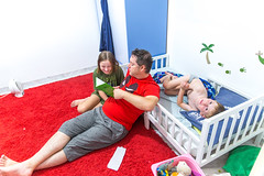 bedtime-1 (lermaniac) Tags: purple bedtime story family home homelife father kids children child