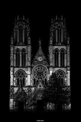 Lanthanides (Hadès Émoi) Tags: nancy photo bw blackandwhite architecture monuments eglise saintleon building france photography art nouveau hadesemoi fineart europe meurtheetmoselle lorraine