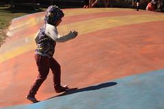 Charging up the jumping pillow (quinn.anya) Tags: sam kindergartener jumpingpillow jellystonepark