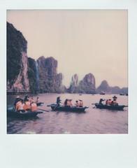 Tourist Boats • PolaroidWeek | Day 1/2 (o_stap) Tags: ishootfilm polaroid600 instant analog vietnam halongbay halong polaroidoriginals polaroid polaroidweek roidweek
