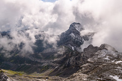 Altmann (Rico the noob) Tags: 2018 rock d850 landscape nature outlook switzerland outdoor 2470mmf28 rocks published 2470mm schweiz dof grass saentis sky fog clouds mountains stones mountain