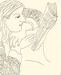 Reading 20181020 13 (danielborisheifetz) Tags: art drawing female portrait ink pen portraiture reading