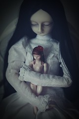 doll with the doll (dolls of milena) Tags: bjd abjd notdoll argeia portrait resin doll vintage retro