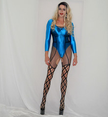 Bodystockings (queen.catch) Tags: drag queen bodystocking youtubevideo youtuber livco heels leotard shiny lycra shemale sissy femboy feminization makeup pleasers wig fitness