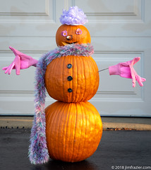 Pumpkin Man (Jim Frazier) Tags: 2018 elgin art autumn buttons decorated decorations edgewater fall flora frazier fruits gardens gloves halloween headshot home house il illinois jimfraziercom kane kanecounty nature october orange our plants portrait portraits portraiture pumpkinman pumpkins q3 scarf sculpture vegetables