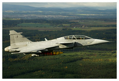 9819 (Milan Nykodym) Tags: gripen saab jas39 czechairforce lowlevel inair airborne inflight fast fighter jet military czech army training doubleseater aboveground aerial airtoair