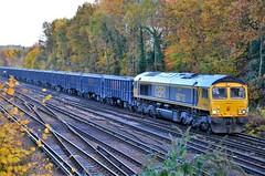 66712 (stavioni) Tags: class66 shed diesel rail railway train gb railfreight gbrf