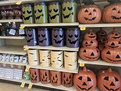 September 24: Halloween (earthdog) Tags: 2018 store shopping halloween holiday decoration googlepixel pixel androidapp moblog cameraphone pumpkin fakefood jackolantern monster mummy frankensteinmonster project365 3652018