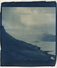rainshower, darker (lawatt) Tags: rain squall clouds coast fjord slope djúpavík árneshreppur westfjords iceland altprocess cyanotype traditional revereplatinum