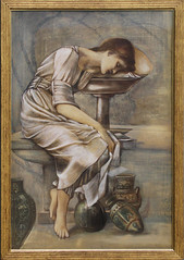Edward Burne-Jones - Study for The Garden Court 1 (ahisgett) Tags: birmingham preraphaelite museum art