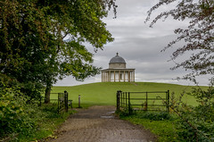 Temple of Minerva (Preston Ashton (Catching Up)) Tags: temple minerta hardwick park prestonashton gate fence trees grass grey day