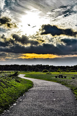 drama down the path (Paul Wrights Reserved) Tags: landscape landscapes landscapephotography sky skyscape dramatic drama clouds cloud cloudscape sun path vanishingpoint leadinglines