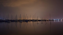 Sound Of The Silent Boats (Edited) (Ed Thorn) Tags: brightlingsea creek river water dark night pastels essex point clear