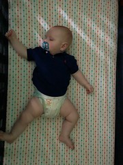 Baby Sleeping - When against earth a wooden heel Clicks as loud as stone on steel,