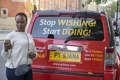 DSC_1065 Shoreditch London Pittfield Street with Dee from Botswana Stop Wishing Start Doing PT 5IANA (photographer695) Tags: shoreditch london pittfield street with dee from botswana stop wishing start doing pt 5iana