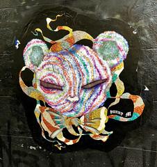Sparkle Kitty by BunnyM (wiredforlego) Tags: graffiti streetart urbanart eastvillage manhattan newyork nyc pasteup wheatpaste bunnym