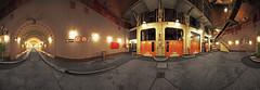 Elbtunnel Elevators - Panorama (FH | Photography) Tags: hamburg deutschland europa technik tunnel stpauli verkehr verbindung strasse wahrzeichen sehenswürdigkeit röhre unterirdisch schleswigholstein elbtunnel weg kunstlicht hh fahrstuhl zufahrt vorplatz architektur aufzug auto elbe einfahrt