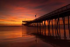 Feed your soul (KurteeQue) Tags: pismobeach sunset orange clouds purple moody reflection pier sand ocean pacificocean pismobeachpier silhouette leefilters littlestopper softgrad filter filters nikon iamnikon nikonusa nikond850 d850 cloudporn benro longexposure