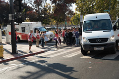 Last minutes of waiting for Red Cross participants to join the parade (American Red Cross of Silicon Valley) Tags: veteransdayparade siliconvalleychapter americanredcross sanjose oleksiinazaruk