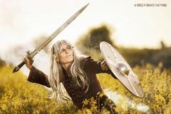 Sword & Sorcery (MIKE'S IMAGE FACTORY) Tags: 5dmk4 canon gothic bestage smoke sigma cosplay heidelberg dossenheim canola sword swordsorcery fantasy finalfantasy shield kitrae sedethul