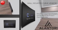 ALANTORI - Wall Mounted Curve Vendor for CasperVend (Alantori) Tags: secondlife casper vendor display caspervend curve curvevendor designer curvetv