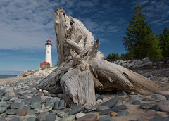 Crisp Point (daveumich) Tags: upperpeninsula michigan autumn lakesuperior greatlakes crisppointlighthouse lighthouse