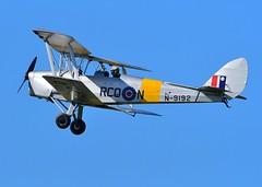 De Havilland DH-82A Tiger Moth (gillybooze) Tags: ©allrightsreserved teleconverter14 aircraft sky inflight airplane vehicle wings pilot cockpit warbird