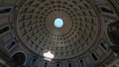 The Pantheon, Rome (Sworldguy) Tags: pantheon roma architecture dome historical dramatic interior church ancient lightbeam oculus pattern geometric art concrete sonya73 wideangle sunlight roman temple