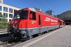 RhB IR Chur-St. Moritz (Kecko) Tags: 2018 kecko swiss switzerland schweiz suisse svizzera graubünden graubuenden gr chur railway railroad bahn eisenbahn bahnhof station train zug rhb ge44 647 grüsch europe rhätischebahn viafierretica rhaetianrailway swissphoto geotagged geo:lat=46852290 geo:lon=9526050