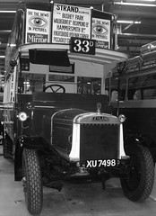 Chocolate Express Leyland LB5  Acton Depot 22/09/18. (Ledlon89) Tags: london bus buses londonbus londonbuses londontransport lt lte lptb vintagebuses oldlondon transport leyland aec ltmuseum actondepot ltm