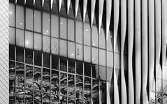 mirroring with panels (christikren) Tags: austria architecture abstract wien windows blackwhite christikren facade lines monochrome mirror reflection vienna amazing black white structure europe light stripes canon powershot patterns building