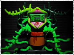 GREED (LegoKlyph) Tags: lego custom brick block mini figure art horror monster plant green greed money halloween creature