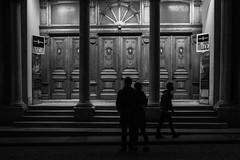 """It was just one of those nights""/ Museum (Özgür Gürgey) Tags: 2018 35mm bw d750 darkcity eminönü nikon samyang architecture blur door grainy lowlight museum night people silhouettes steps street istanbul"