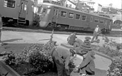 CP MEy308, Porto (Trindade), Portugal, 11 October 1959 (filhodaCP) Tags: comboiosdeportugal cp9300 railcar trainsinportugal linhadeguimarães linhadapóvoa linhadapovoa viaestrecha viametrica viaestreita narrowgauge metergauge metregauge ferroviário museuferroviário diesel automotora