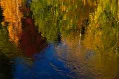 Watercolor paint (Stefano Rugolo) Tags: stefanorugolo pentax k5 pentaxk5 helios44258mmf2 helios442 helios manualfocuslens manualfocus manual impression abstract colorpalette colors reflections autumn fall river water sky trees watercolorpaint watercolor paint tree