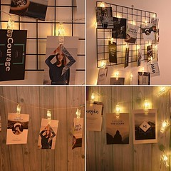 AOSTAR 20 LED Photos Clips String Lights (10ft. Warm White) Battery Operated Fairy String Lights Bedroom Hanging Photos, Cards Artworks (katalaynet) Tags: follow happy me fun photooftheday beautiful love friends