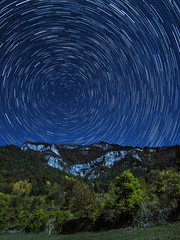 Star Trail (stagepiano) Tags: bosco e‑m10markii italia italy landscape lightroom montagna moon natura night notte olympus outside panorama passoborcola passocoe samyang12mm stars startrail stelle sudtirol terragnolo trentino