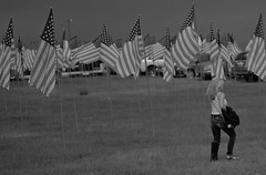 America (Tim @ Photovisions) Tags: flag america girl women oldglory blackandwhite monochrome fuji xt2 fujifilm