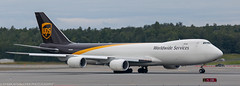 UPS 747 freighter at ANC (Alaskan Dude) Tags: travel alaska anchorage anchorageinternationalairport airplane airplanes airliners aviation planes planespotting planewatching