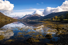 Schotland - TKF (Ton Kuyper Fotografie) Tags: schotland scotland sky water lake loch reflection highlands gras