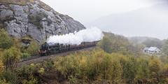 Along the Ledge (4486Merlin) Tags: 4515745407 europe exlms highland lms5mtblackfive railways scotland steam theglasgowhighlander transport unitedkingdom lochailort gbr jacobite