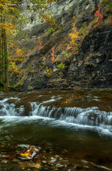Taughannock Creek (HarrySchue) Tags: fall fallcolors ithacany landscape nature taughannockfalls waterfalls cascade creeks streams taughannockfallsstatepark trees leaves