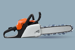 Modern chain saw (vlekuona) Tags: saw chain chainsaw isolated white orange professional blade equipment tool machine motor power background technology construction industry object nobody work metal engine horizontal forestry finland