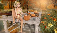 Marigold and Pumpkins (Duchess Flux) Tags: aulovely hairfair2018 thechapterfour fameshed shinyshabby kustom9 blueprint luas exile lode empyreanforge genusproject deetalez zibska purepoison lepoppycock neverwish jian tmcreations disorderly irrisistible secondlife sl