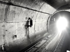 """Walk to the light and you will see another world ☠️ (ICE DESERT """" Ahmed """") Tags: metro light tunnel tünel bnw blackwhite noir drama subway huawei p20pro istanbul turkey نفق ضوء دراما ابيضواسود أحادي ميترو اسطنبول هواوي بي20برو"""