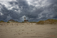 Clouds over Wash Woods (Donald.Gallagher) Tags: 4x4beach carova color crop lifesavingstation manmadeobject nc northamerica northcarolina obx outerbanks outerbanx public smartlighting tower typecolor typedxo typeshutterbuttonfocus typewideangle usa washwoods washwoodswatchtower whitebalance