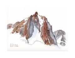 Face nord de la Tour Ronde (Yvan LEMEUR) Tags: latourronde montagne montblanc alpinisme alpes aquarelle watercolour acuarela mountain glacier chamonix hautesavoie massifdumontblanc