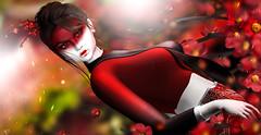 Geisha (meriluu17) Tags: astralia monso glamaffair geisha japan japanese japonica neojapan red sakura cherry china doll porcelain people portrait pale fantasy surreal